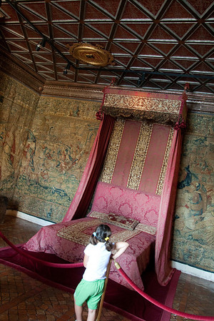 And if this bed were mine...: At the château of Chenonceaux, in the Loire Valley.