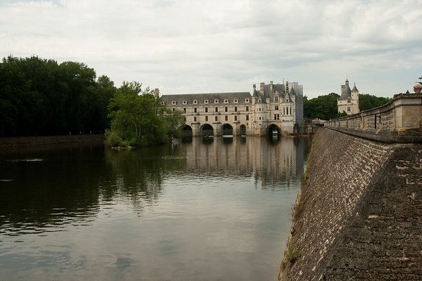 At the château of Chenonceaux, in the Loire Valley.