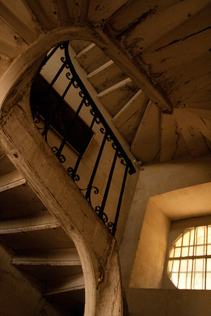 Spiral Staircase: At the chateâu of Ussé, the inspiration for Sleeping Beauty, in the Loire