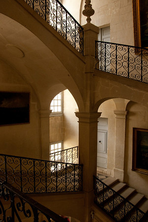 Main staircase: At the chateu of Uss, the inspiration for Sleeping Beauty, in the Loire