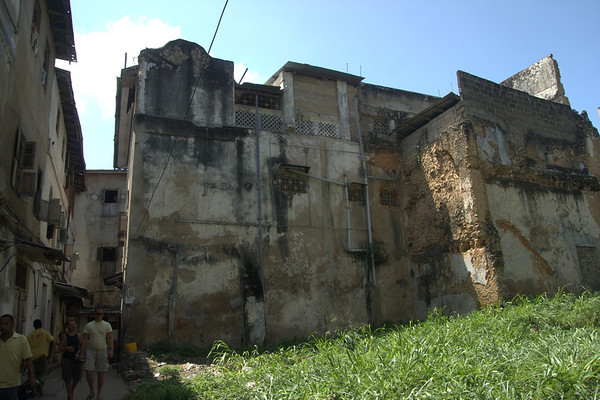 Collapse: Almost 60% of Stonetown's buildings are reckoned to be strucuturally deficient, or, worse, in imminent danger of collapse, which would leave a gap like this building here left.