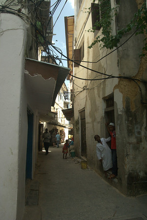 Stonetown Street: Many streets looked just like this one -- narrow, colorful, active
